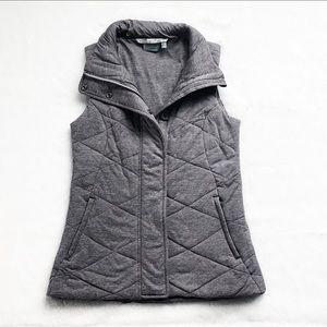 Athleta Gray Quilted Icecap Vest